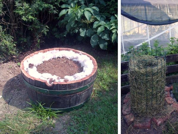 povečanje obdelovalne površine, grede, korita, slamne kocke, uporaba opeke na vrtu