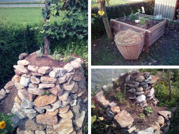 dvignjene gre, začetek vrtnarske sezone, kamniti terasasti vrtovi