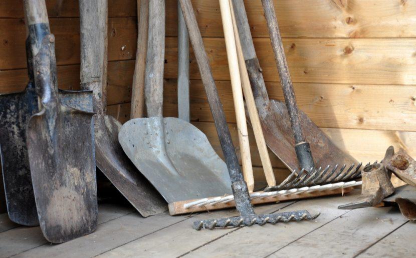 vrtno orodje, orodje za na vrt, lopata, grablje, zelenjava