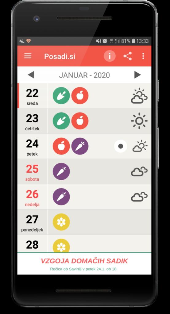 setveni koledar Marije Thun 2020, lunin koledar 2020, setveni koledar Marija Thun 2020, mobilna aplikacija s setvenim koledarjem 2020