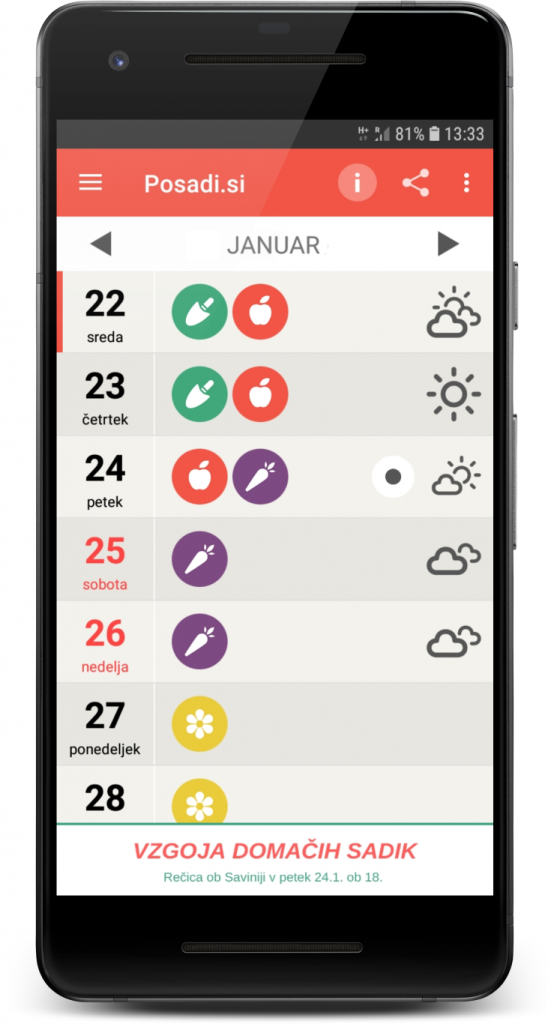 setveni koledar Marije Thun 2021, lunin koledar 2021, setveni koledar Marija Thun 2021, mobilna aplikacija s setvenim koledarjem 2021